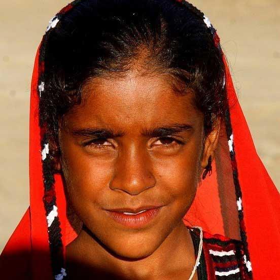 دختر بچه زیبای بلوچدختران آفتاب