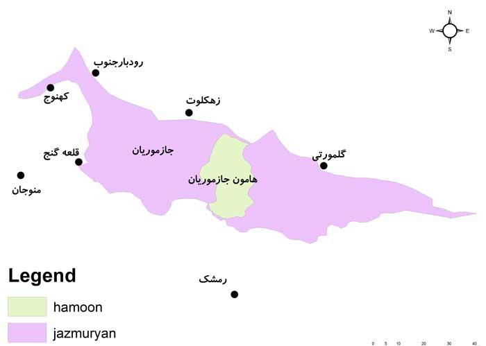 نقشه جازموریان