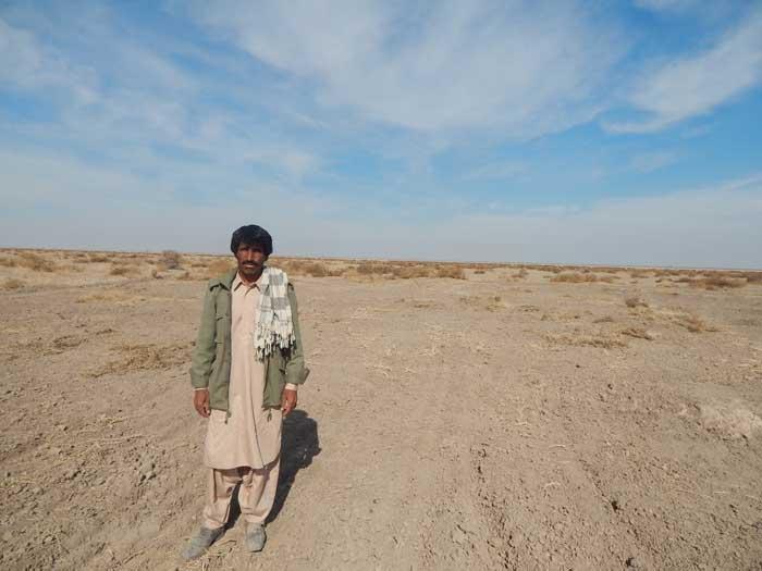 خشک شدن زمین های جازموریان
