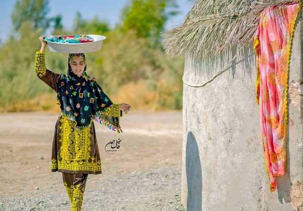 دختر زیبای بلوچ لباس زنانه بلوچی معرفی فرهنگ غنی بلوچ